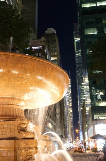 Fountain at Bryant Park