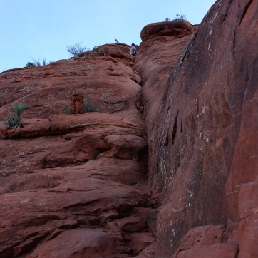 Cathedral Rock climbers